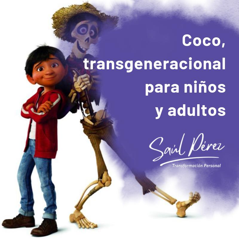 coco, transgeneracional para niños y adultos
